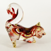 Hand Blown Glass Red-Yellow Squirrel Gilt #2-1