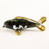 Hand Blown Glass Black Carp (Koi) Fish Gilt 1