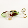 Hand Blown Glass Green-Red-Pink Carp (Koi) Fish Gilt 1