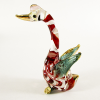 Hand Blown Glass Red Swan 1