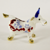 Hand Blown Glass Red-Blue Ox (Cow) Gilt 1