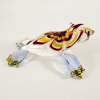 Hand Blown Glass Red-Yellow-Blue Seal (Sea Lion) Gilt 1