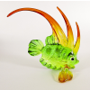 Hand Blown Glass Green-Yellow-Orange Fish 1