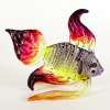 Hand Blown Glass Violet-Yellow-Orange-Red Fish 1