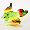 Hand Blown Glass Green-Yellow-Orange-Red Fish 1