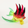 Hand Blown Glass Red-Yellow-Black-Green Fish 1