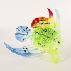 Hand Blown Glass Green-Yellow-Red-Blue Fish 1