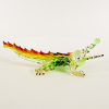 Hand Blown Glass Green-Yellow-Red Crocodile 1
