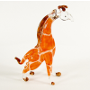 Hand Blown Glass Orange Giraffe 3-1