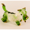 Hand Blown Glass Green Scottish Terrier Dog Gilt 1