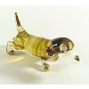 Hand Blown Glass Yellow Dachshund Gilt 1