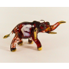 Hand Blown Glass Red Elephant Gilt 1