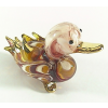 Hand Blown Glass Red-Yellow Duck Gilt 1