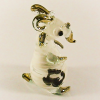Hand Blown Glass White-Green Goat Gilt 1
