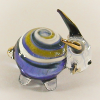 Hand Blown Glass Blue-Yellow Goat Gilt 1
