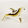 Hand Blown Glass Red-Yellow Dolphin Fish Gilt #5-1