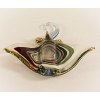 Hand Blown Glass Colorful Ray Fish Gilt #4-1