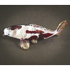 Hand Blown Glass Colorful Koi Fish Gilt #2-1