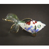 Hand Blown Glass Red-Green Fish Gilt 1