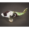 Hand Blown Glass Red-Green Carp (Koi) Fish Gilt #2-1