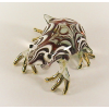 Hand Blown Glass Red Frog Gilt 1