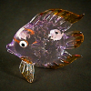Hand Blown Glass Purple Fish 1