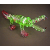 Hand Blown Glass Colorful Crocodile 1