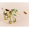 Hand Blown Glass Green Elephant Gilt 1