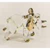 Hand Blown Glass Elephant Gilt #3-1