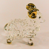 Hand Blown Glass Sheep Gilt 1