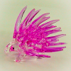 Hand Blown Glass Pink Porcupine 1