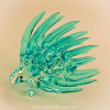 Hand Blown Glass Blue Porcupine 1