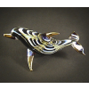 Hand Blown Glass Blue Dolphin Gilt 1