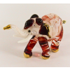 Hand Blown Glass White-Red Elephant Gilt 1