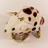 Hand Blown Glass Red Mouse Gilt 1