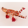 Hand Blown Glass Scarlet Crocodile (Alligator) Gilt 1