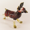 Hand Blown Glass Red Stripe Chihuahua Dog Gilt 1
