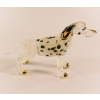 Hand Blown Glass Dalmatian Dog Gilt 1