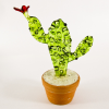 Hand Blown Glass Green Cactus #2-1
