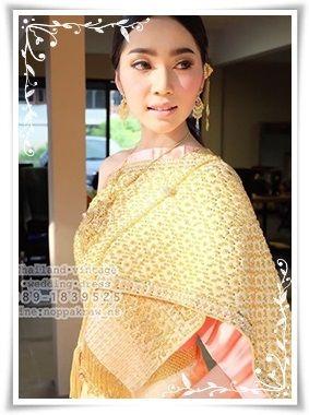 ชุดไทยสไบปักโบราณ-ชุดไทยเจ้าสาว